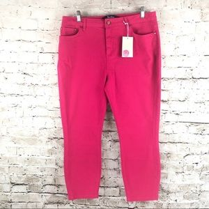 NWT Boden Pink The Cropped Soho Skinny Capri 10R